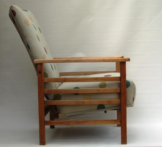 Vintage 1930s Reclining Armchair Maud Chairsmaud Chairs