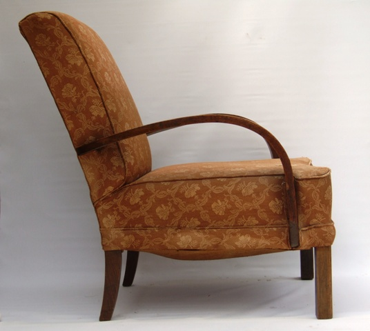 1930s Art Deco Club Armchair For Salemaud Chairs