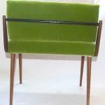 11960s telephone chair back green kvadrat fabric
