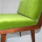 1960s telephone chair side green kvadrat fabric