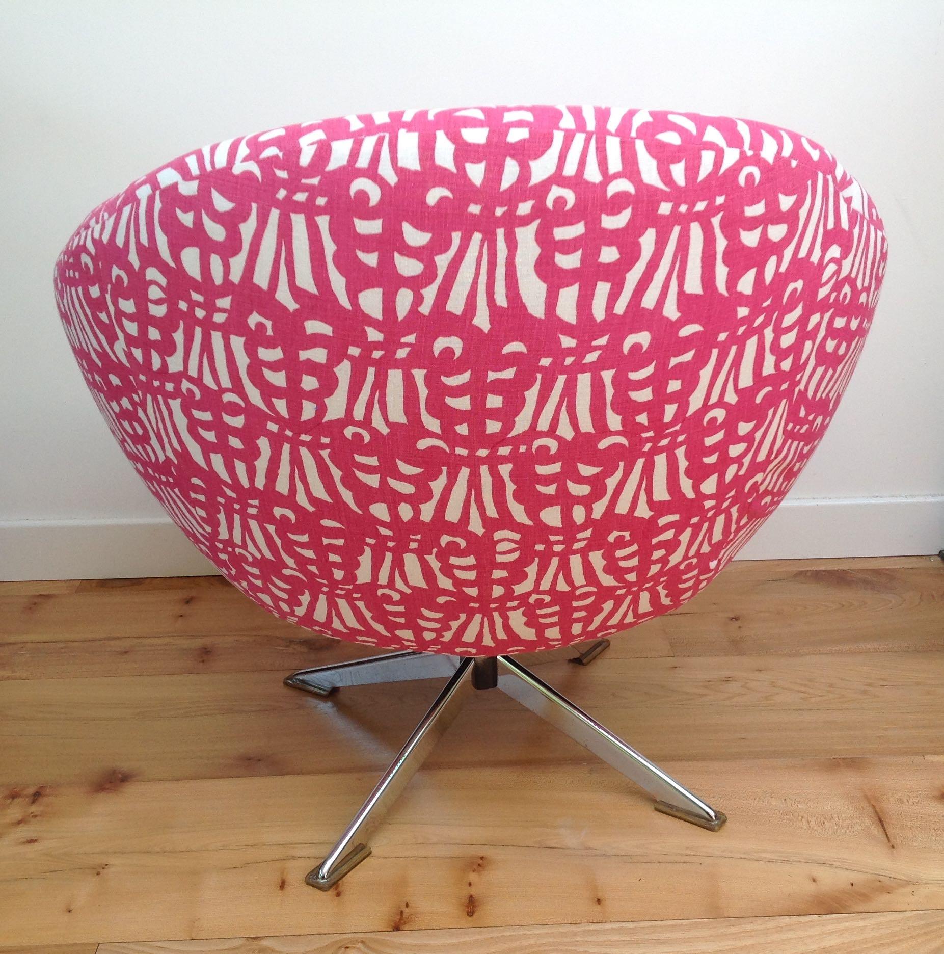 ... Vintage 60s 70s Swivel Egg Chair Retro Vintage Mid Century ...