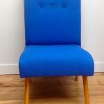 1960s vintage bedroom cocktail chair blue wool