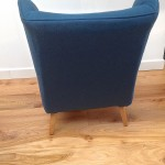 1950s Vintage Howard Keith Wing Back Armchair Teal Kvadrat Wool - 08