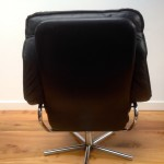 Vintage Danish Leather Recliner and Foot Stool - 5