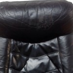 Vintage Danish Leather Recliner and Foot Stool - 7