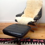 Vintage Danish Leather Recliner and Foot Stool - 8