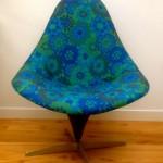 Original Vintage 1960s Lurashell Chair Swivel Base - 1
