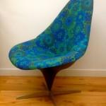 Lurashell vintage original 1960 mid-century scandinavian danish upholstered wool