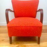 Vintage 1930s Deco Armchair Retro mid century Bute Wool Orange