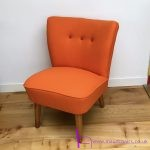 vintage cocktail chair 1950s midcentury retro orange bute wool danish