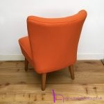 1950s Orange cocktail chair - 06