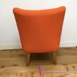 1950s Orange cocktail chair - 08